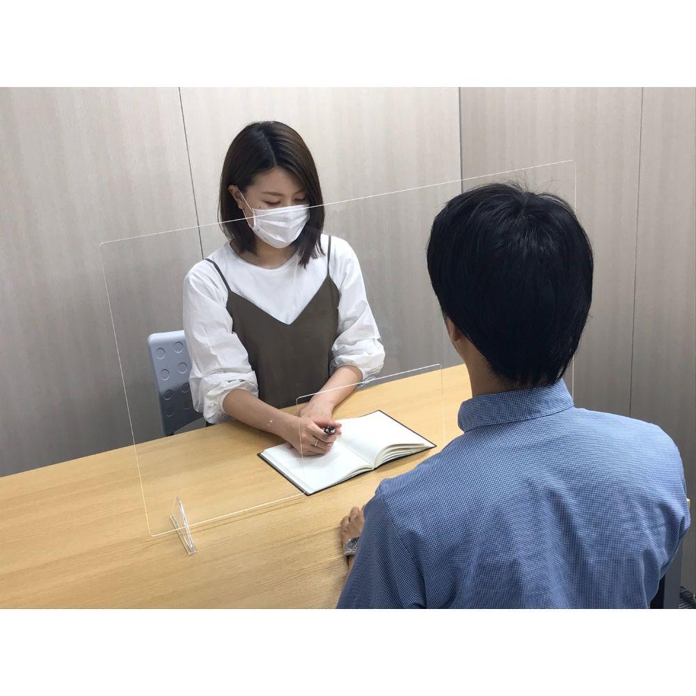 飛沫感染防止アクリルパネル 小 W600×H600mmイメージ