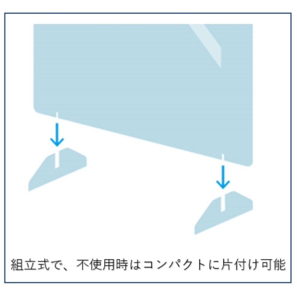 飛沫感染防止アクリルパネル 小 W600×H600mmのイメージ5